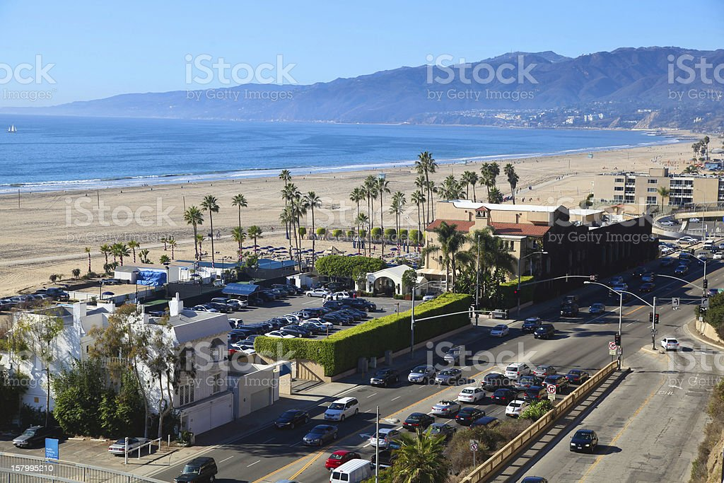 Santa Monica Beach, California stock photo