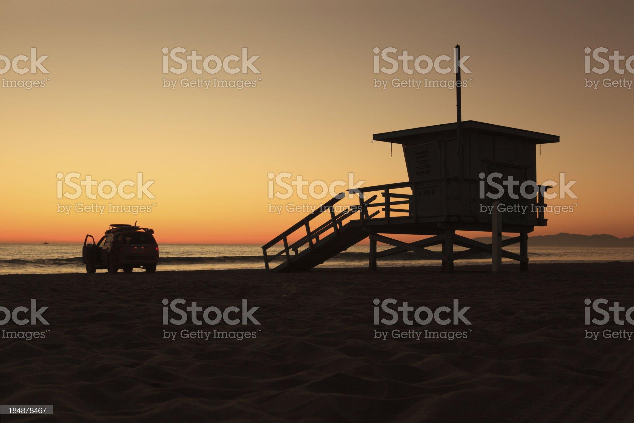 Santa Monica Beach, California royalty-free stock photo