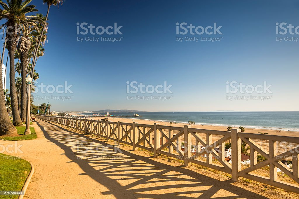 Santa Monica beach California stock photo