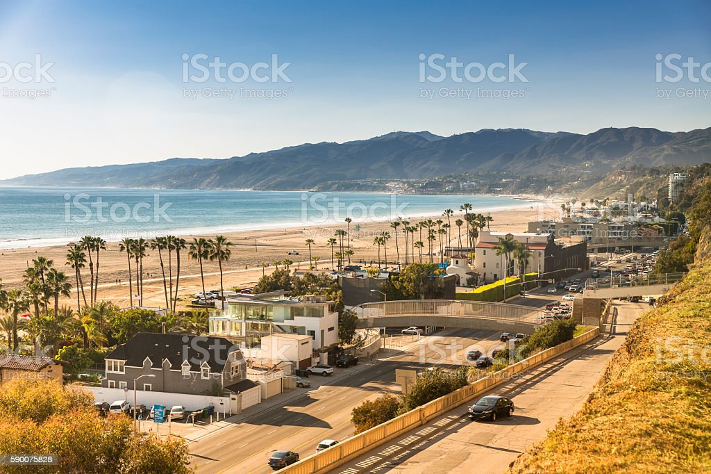 Santa Monica beach California stock photo
