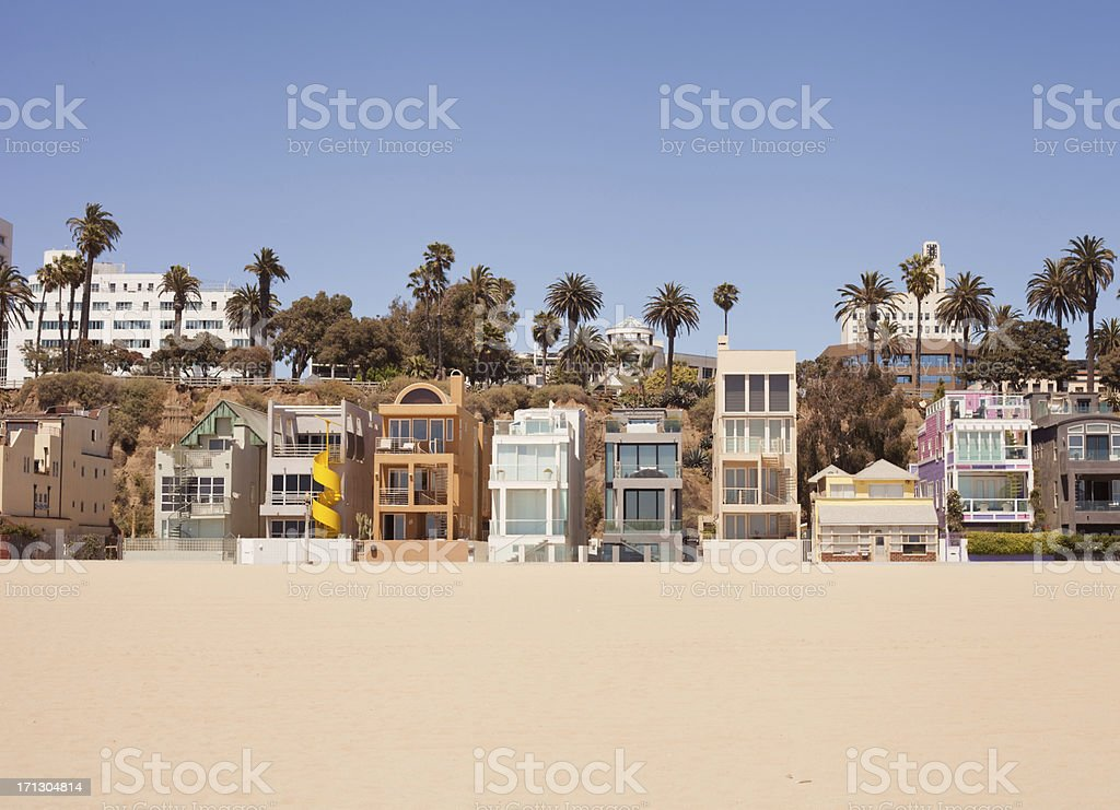 Santa Monica Beach Houses stock photo