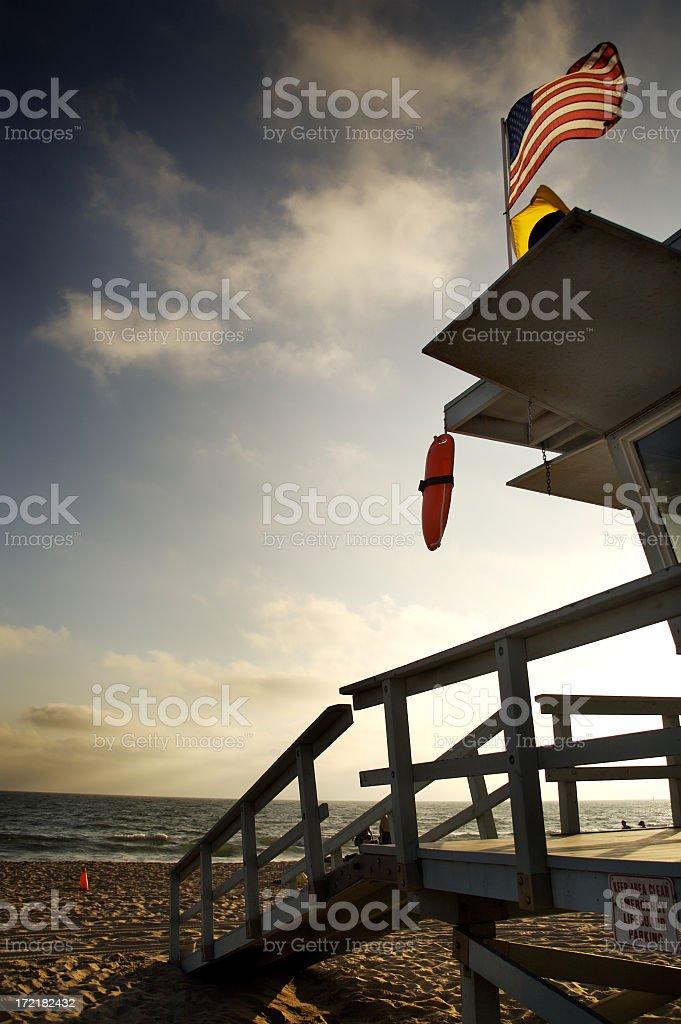Santa Monica Beach Lifeguard Tower royalty-free stock photo