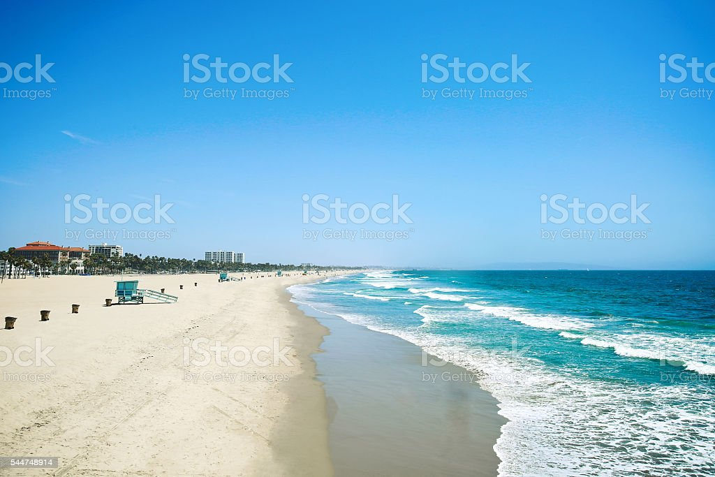 Santa Monica Beach Los Angeles CA stock photo