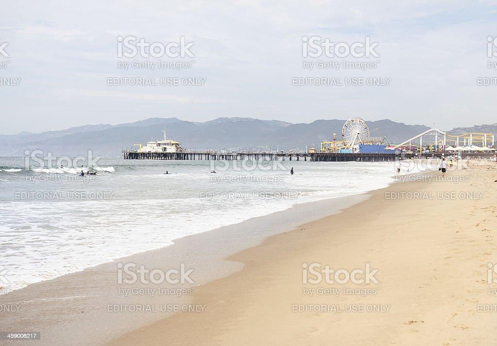 Santa monica beach - Los angeles royalty-free stock photo