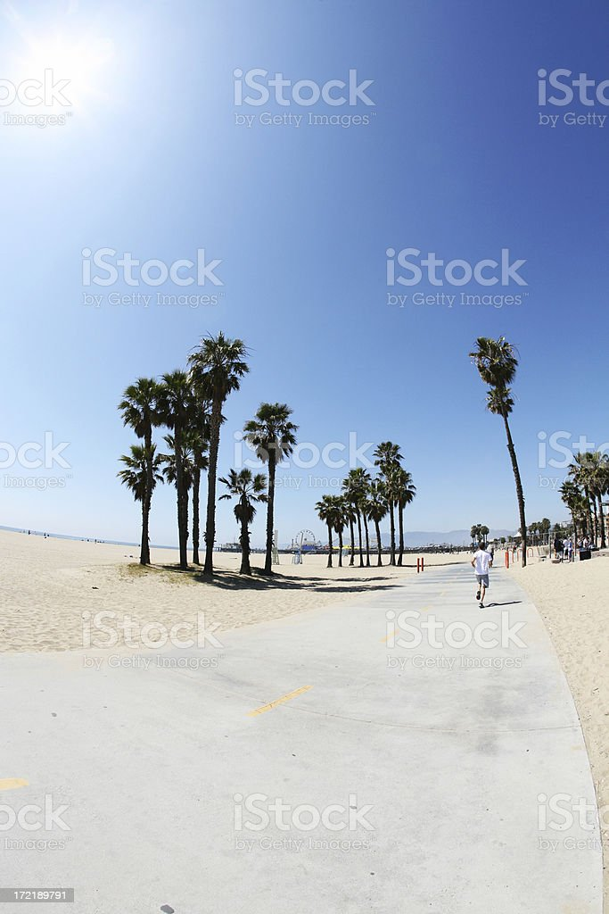 Santa Monica Beach On A Hot Summers Day royalty-free stock photo