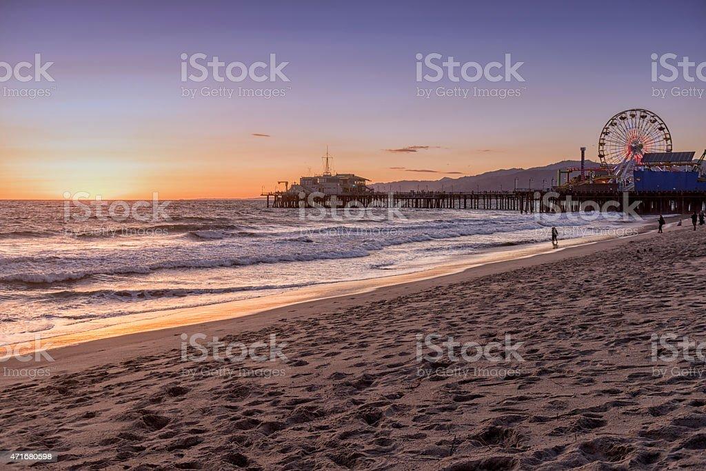 Santa Monica beach stock photo