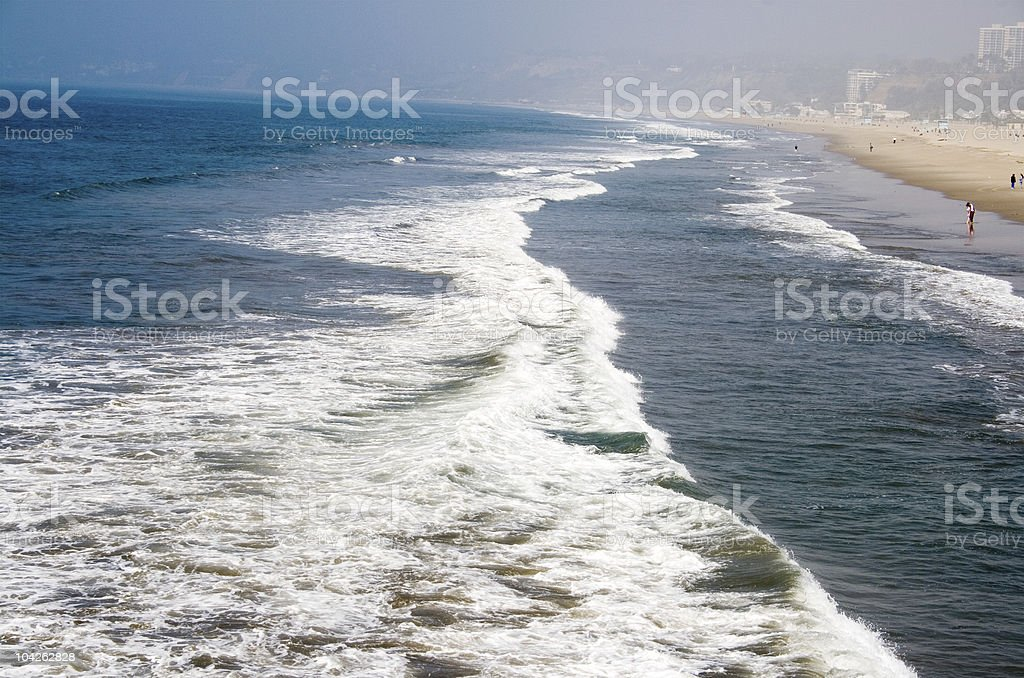Santa Monica Beach- view from the pier royalty-free stock photo