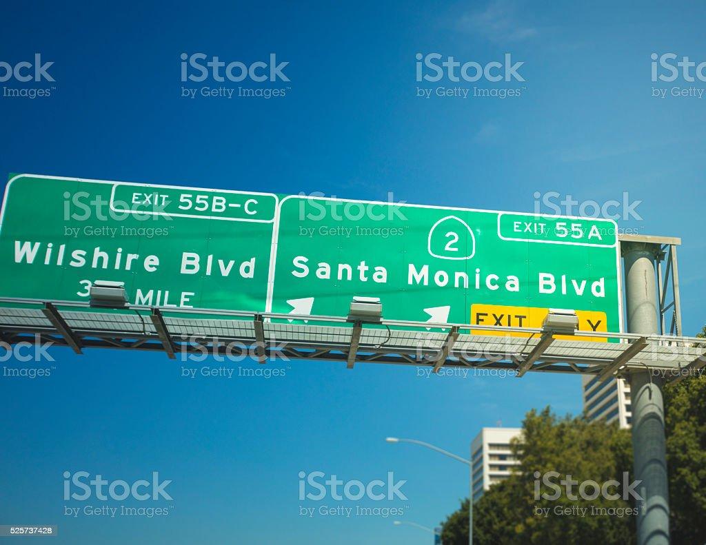 Santa Monica Blvd stock photo