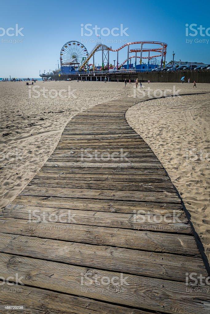 Santa Monica boardwalk stock photo