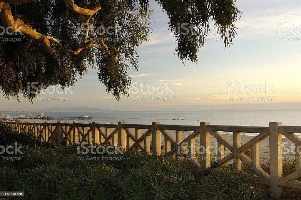 Santa Monica Coast royalty-free stock photo