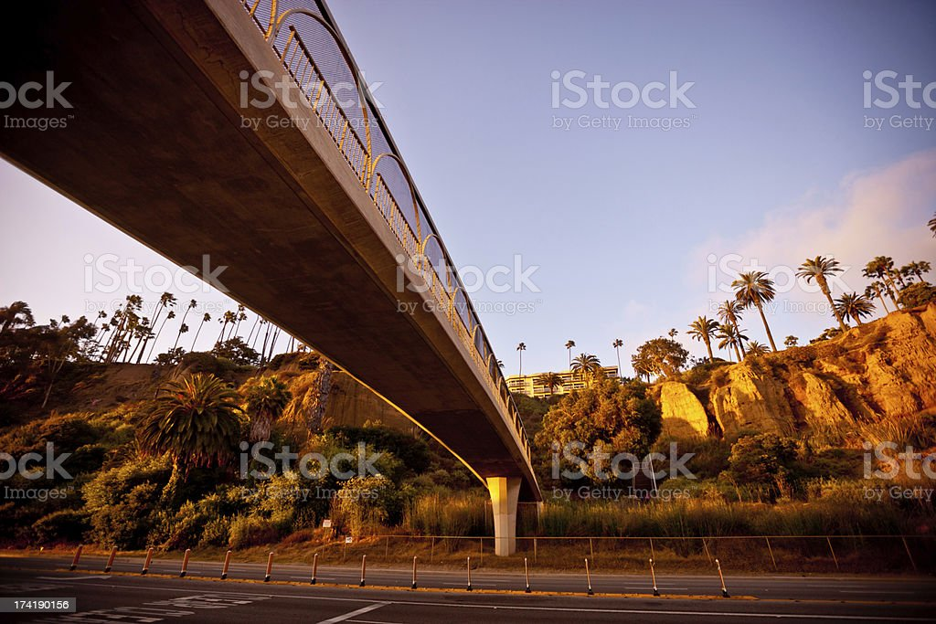 Santa Monica Coastline and Pacific Highway royalty-free stock photo