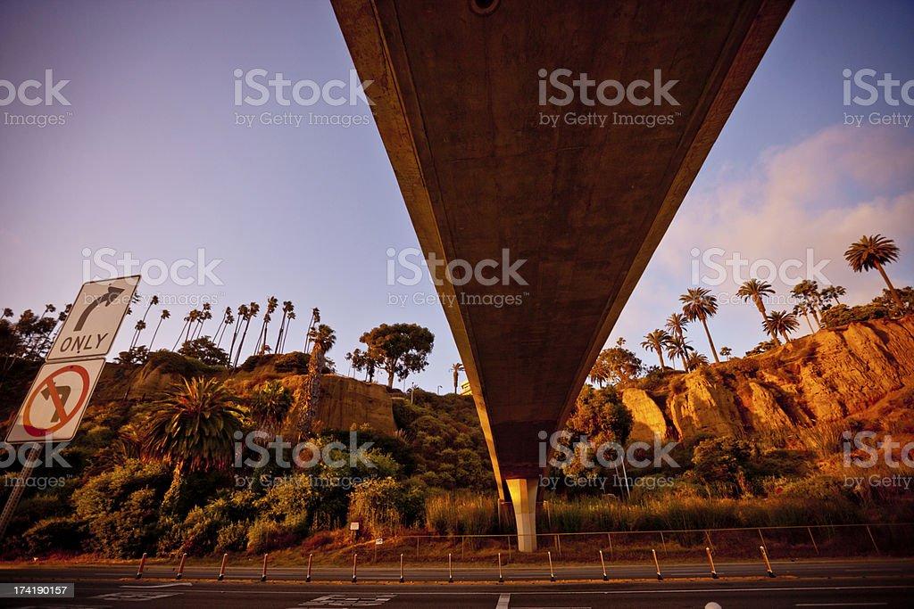 Santa Monica Coastline and Pacific Highway royalty-free stock photo