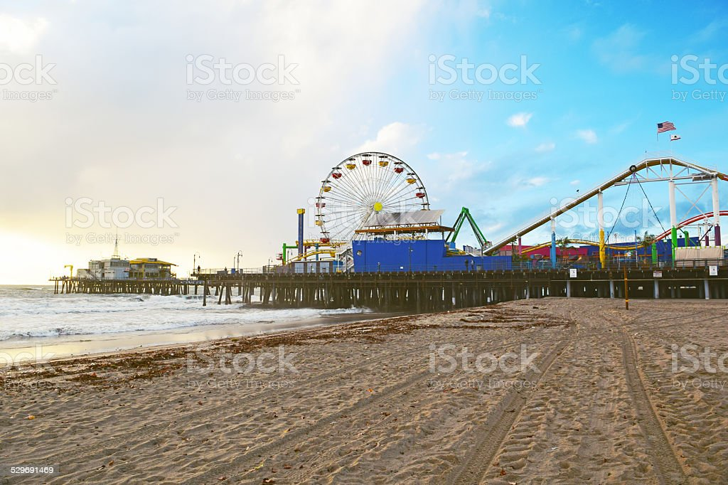 Santa Monica Coastline stock photo