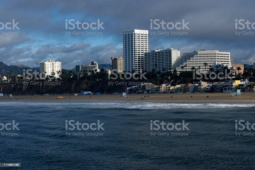Santa Monica Early Morning royalty-free stock photo