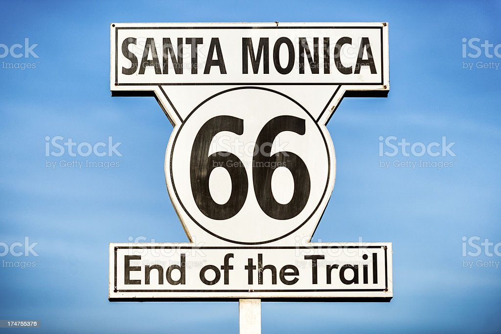 Santa Monica end of the Trail royalty-free stock photo