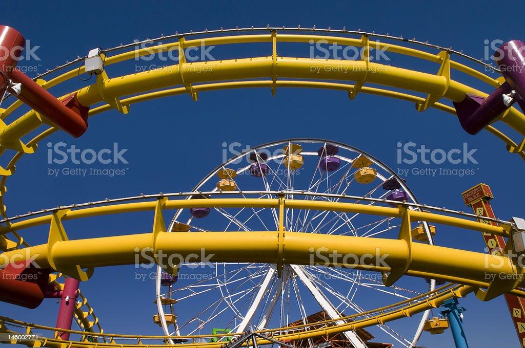 Santa Monica Ferris Wheel Detail royalty-free stock photo