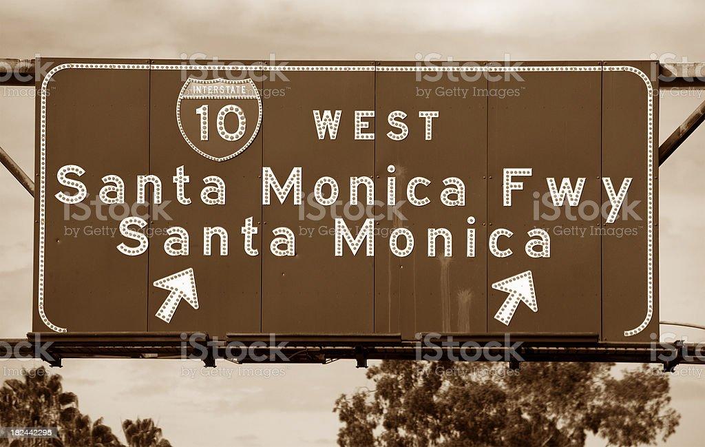Santa Monica Fwy sign royalty-free stock photo