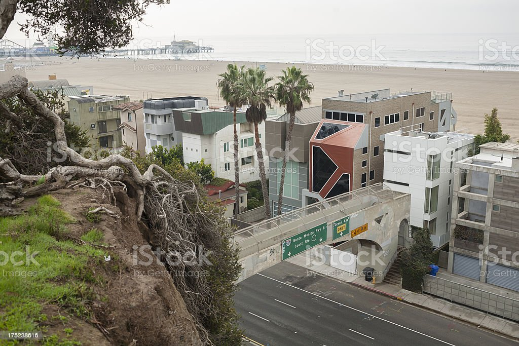 Santa Monica -- Highway 1 royalty-free stock photo
