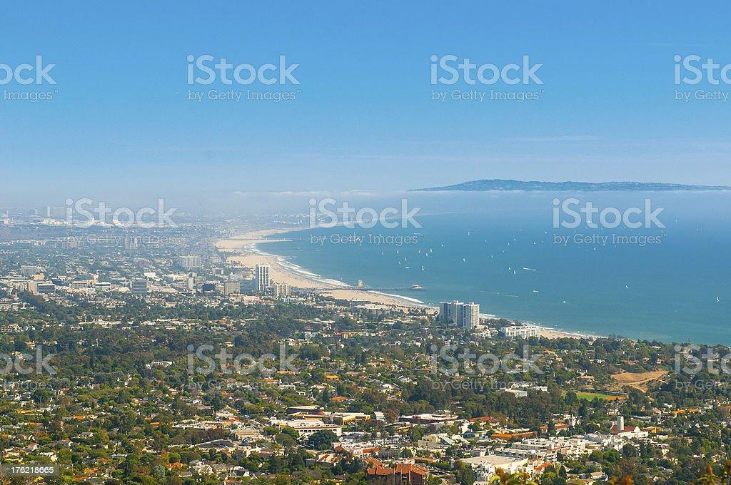 Santa Monica Labor Day Weekend royalty-free stock photo