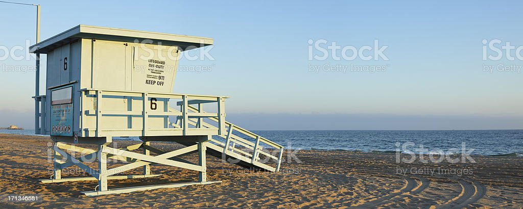 Santa Monica Lifeguard Station royalty-free stock photo