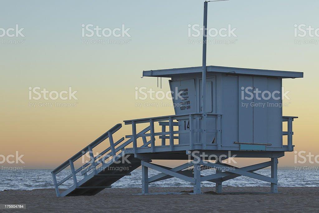 Santa Monica Lifeguard Station royalty-free stock photo