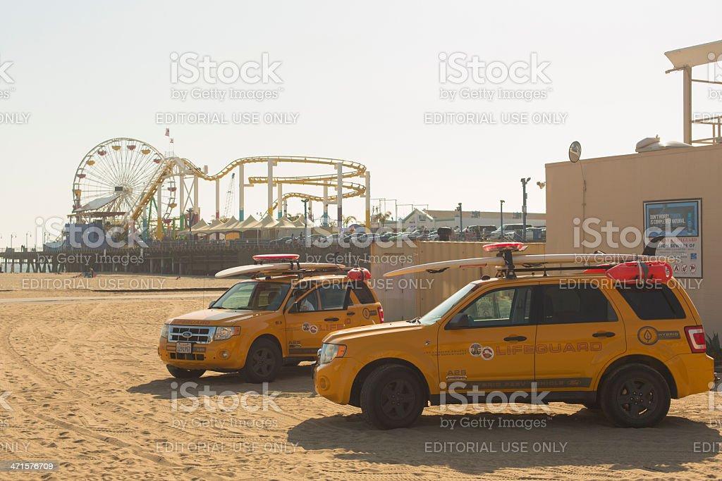 Santa Monica Lifeguards royalty-free stock photo