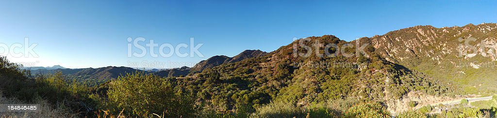 Santa Monica Mountains at Dusk stock photo