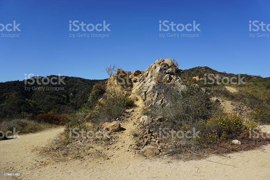 Santa Monica Mountains stock photo