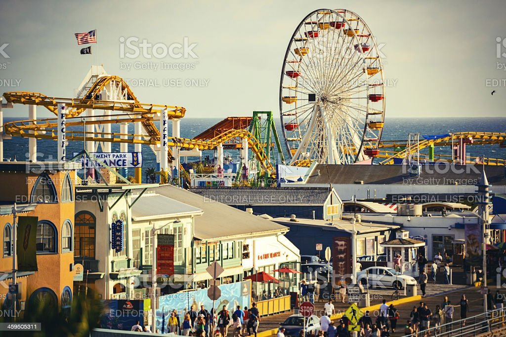 Santa Monica Pier and Amusement Park stock photo