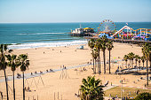 Santa Monica Pier and Muscle Beach, CA, USA