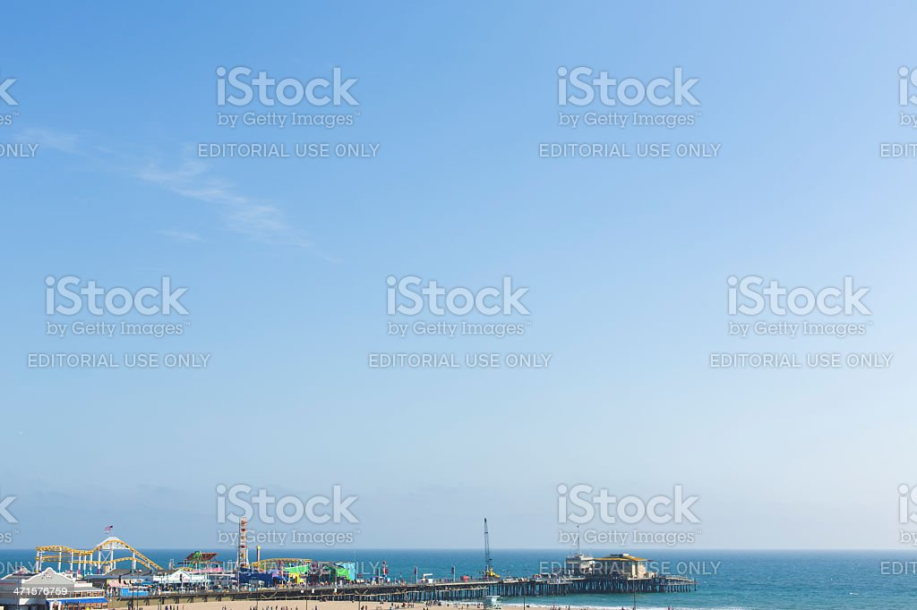 Santa Monica Pier and Sky royalty-free stock photo