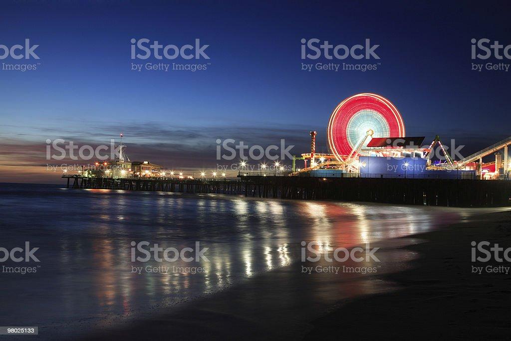 Santa Monica Pier, CA royalty-free stock photo
