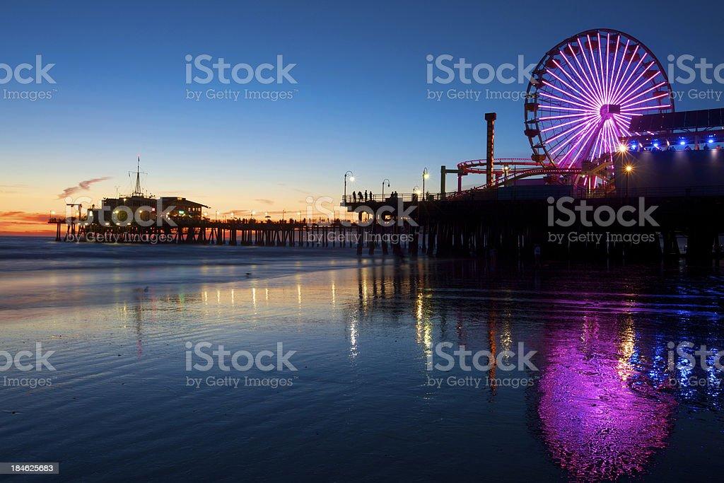 Santa Monica Pier California royalty-free stock photo