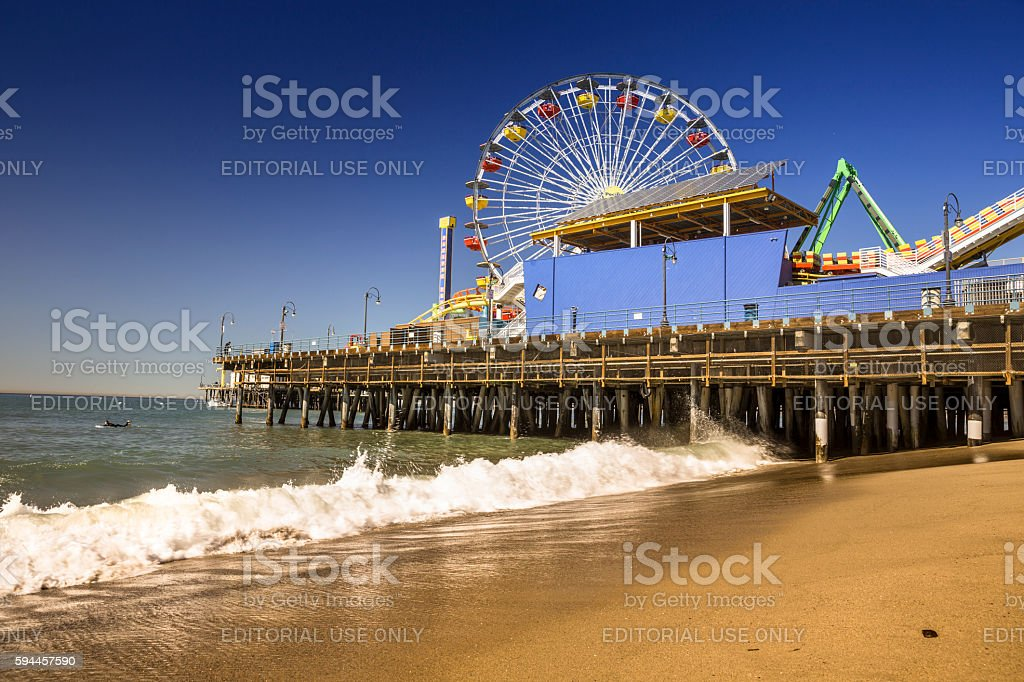 Santa Monica Pier California stock photo