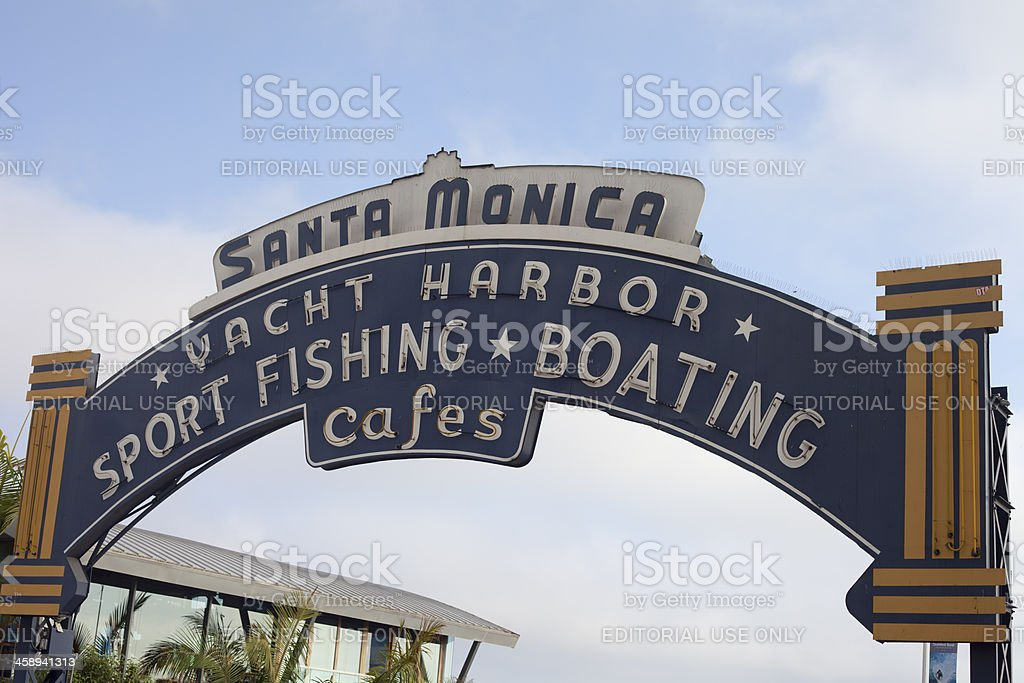 Santa Monica Pier Entrance royalty-free stock photo