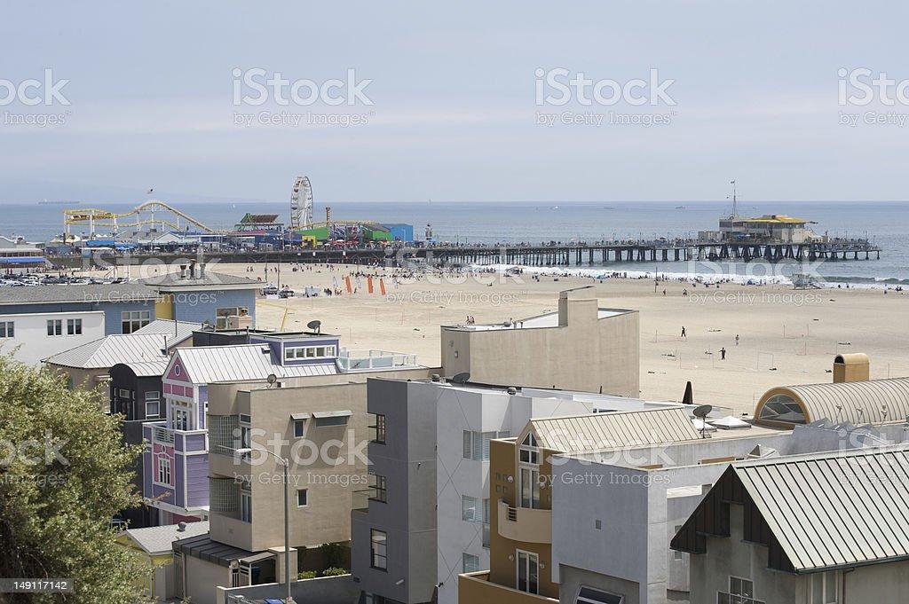 Santa Monica Pier in California royalty-free stock photo