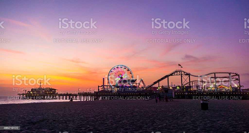 Santa Monica Pier In California stock photo