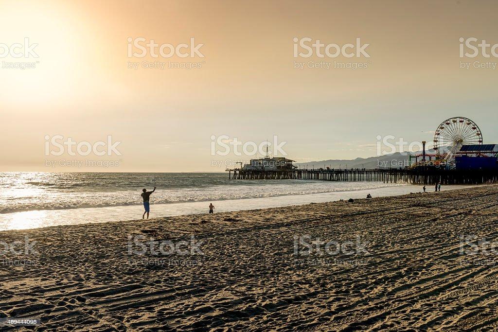 santa monica pier, Los Angeles, California stock photo