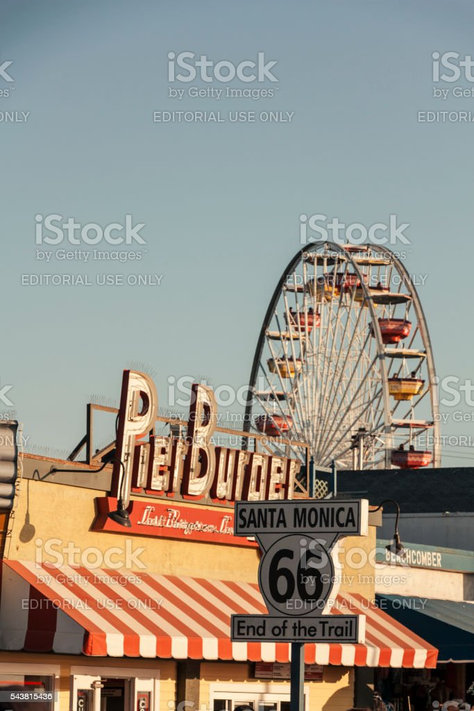 Santa Monica Pier stock photo