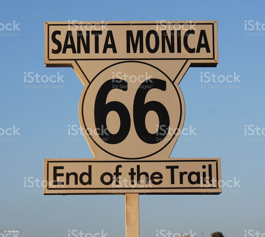 Santa Monica Pier Route 66 stock photo