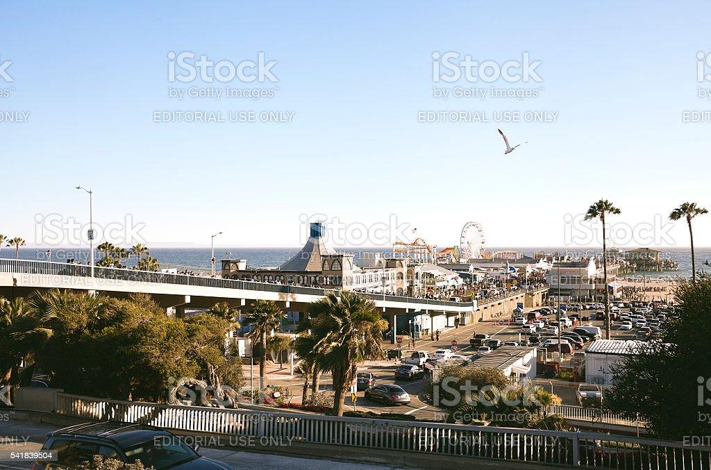 Santa Monica Pier, Southern California stock photo