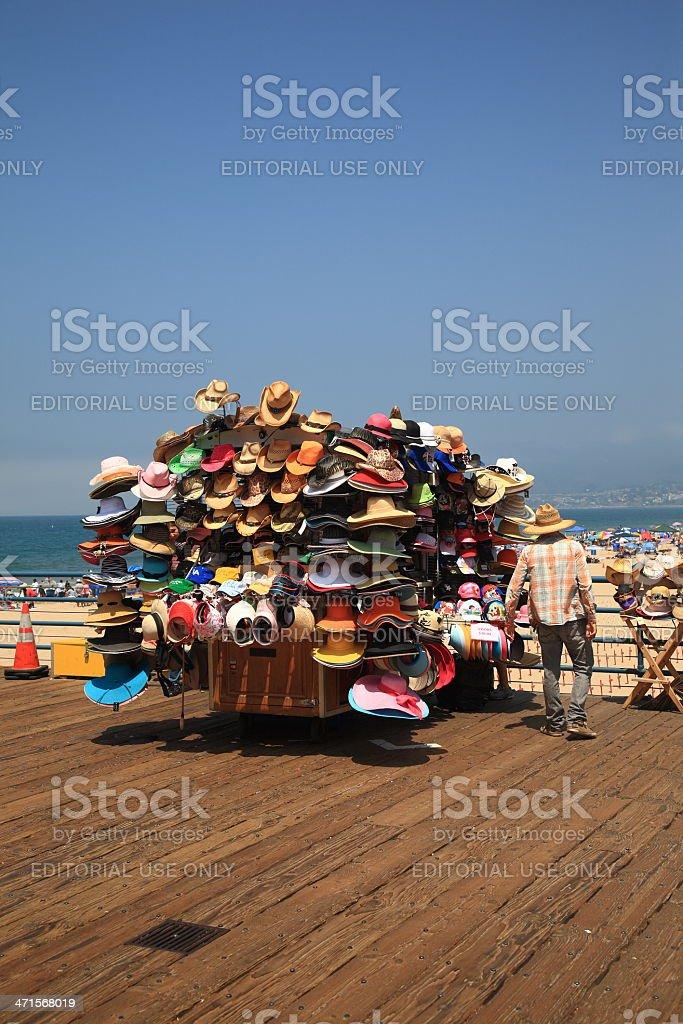 Santa Monica Pier Vendor royalty-free stock photo