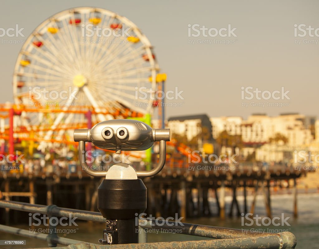 Santa Monica Pier View stock photo