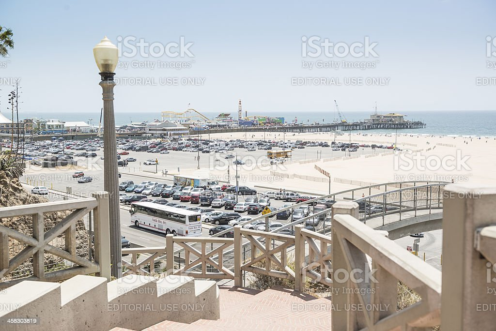 Santa Monica State Beach and Pier royalty-free stock photo