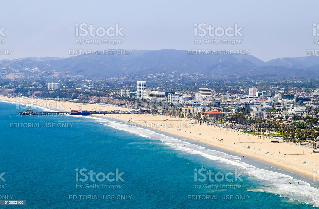 Santa Monica State Beach stock photo