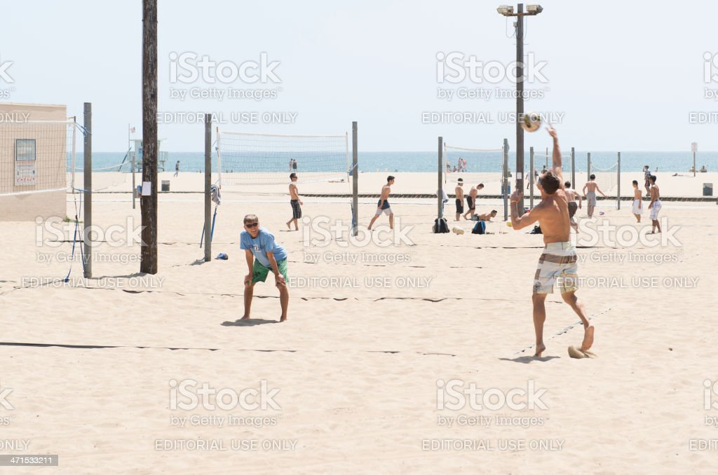 Santa Monica State Beach Volleyball Courts royalty-free stock photo