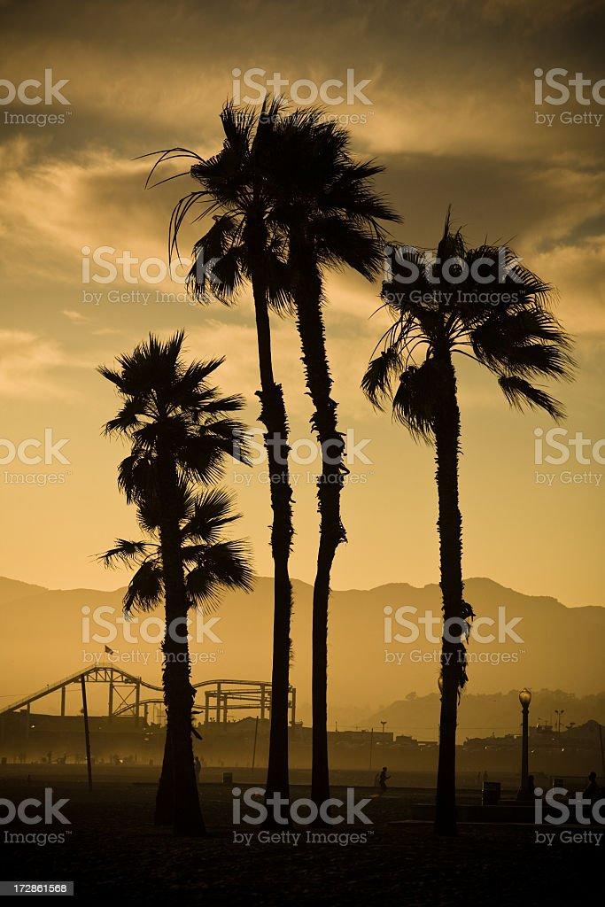 Santa Monica Sunset royalty-free stock photo