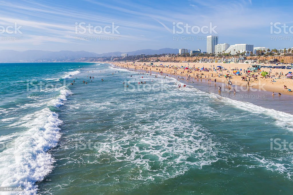 Santa Monica surf, beach stock photo