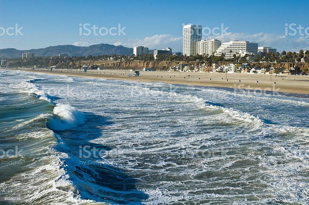 Santa Monica surf, beach royalty-free stock photo