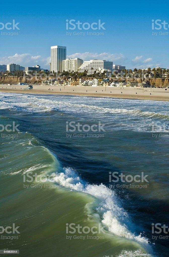 Santa Monica surf LA royalty-free stock photo